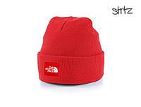 Шапка The North Face красного цвета  (люкс копия)