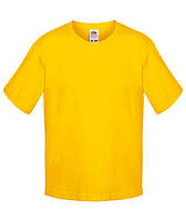 Желтая детская футболка Премиум