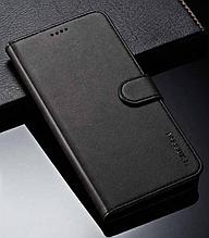 Кожаный чехол-книжка для Samsung Galaxy S10e черный