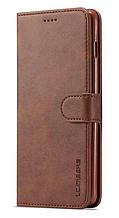 Кожаный чехол-книжка для Samsung Galaxy S10e коричневый