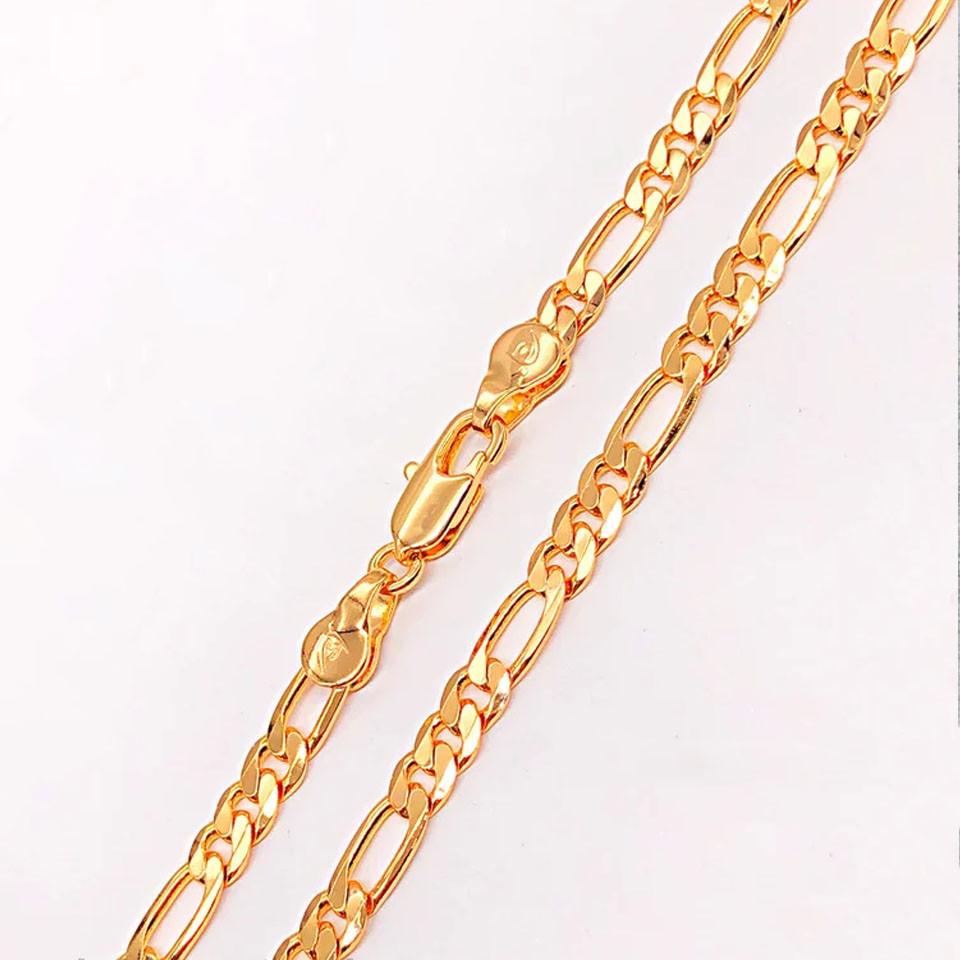 Цепочка Xuping Jewelry 60 см х 4,2 мм Фигаро медицинское золото позолота 18К. А/В 4749