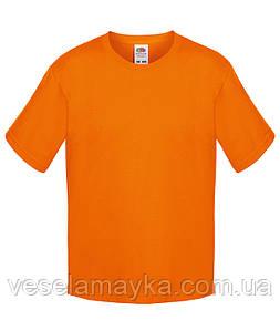 Оранжевая детская футболка Премиум