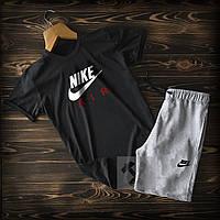 Мужской летний костюм футболка и шорты Найк, футболка и шорты Nike, хлопок, высокого качества.
