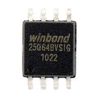 Чип W25Q64 W25Q64BVSIG SOP8, 64Мб Flash SPI
