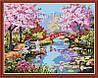 """Картина по номерам, раскраска """"Японский сад"""", 40х50см. (MG190, КН190)"""