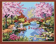 """Картина по номерам, раскраска """"Японский сад"""", 40х50см. (MG190, КН190), фото 1"""