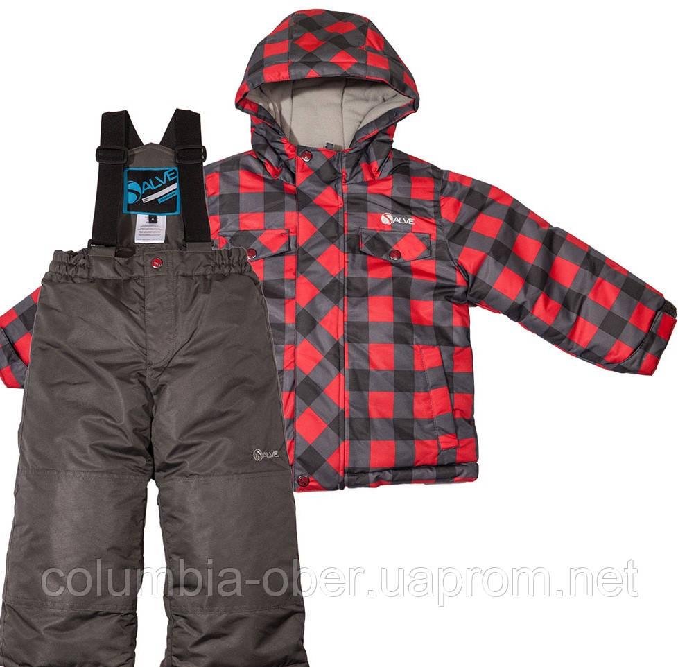 Зимний детский комплект для мальчика Salve by Gusti SWB 4861 TRUE RED. Размеры 92  - 128.