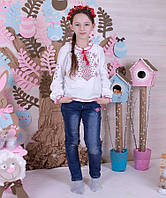 Блуза вышиванка-16 интерлок