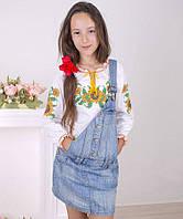 Блуза Вышиванка-20 интерлок