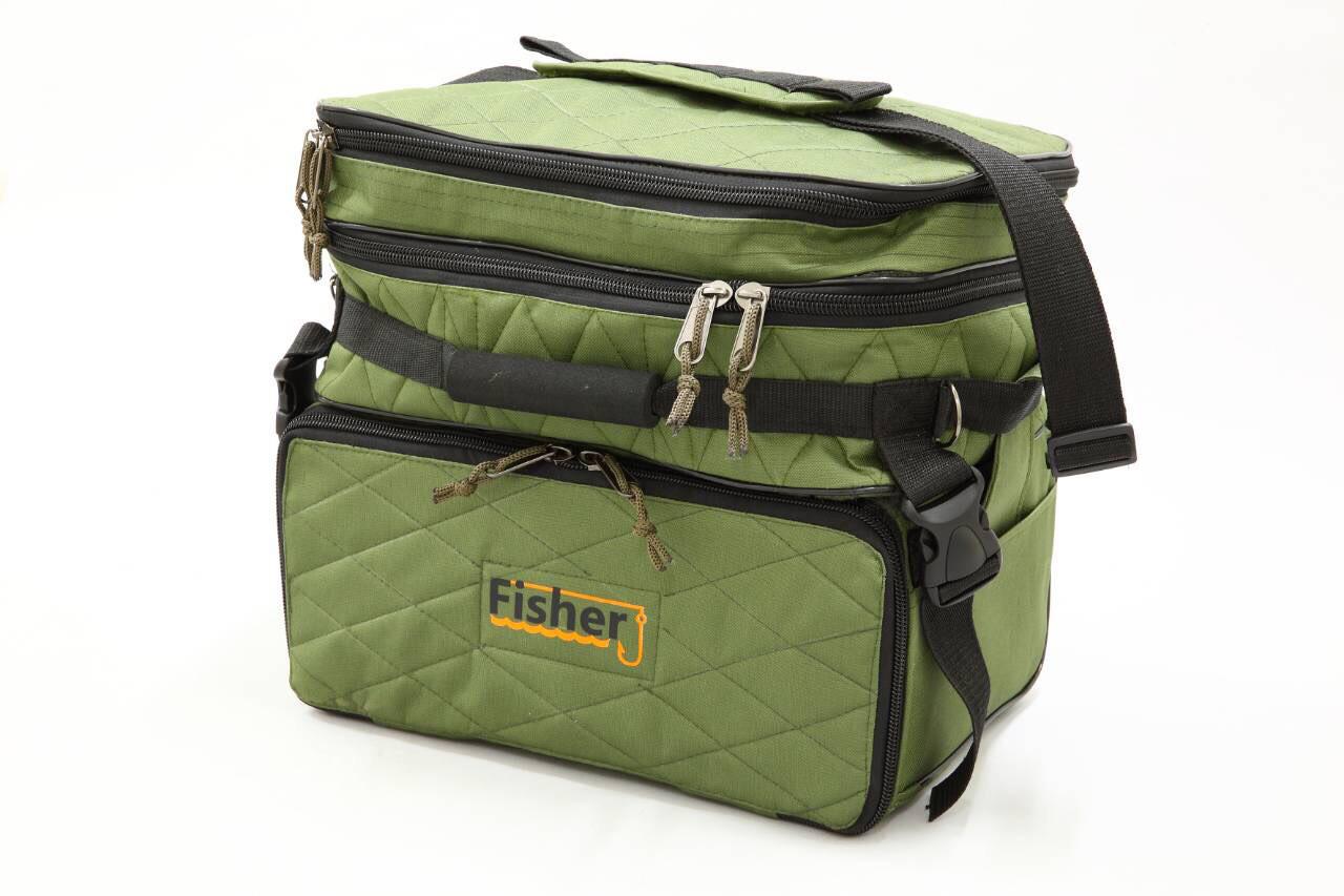 Сумка Fisher рыбацкая 3х секционная для хранения мелких аксессуаров,