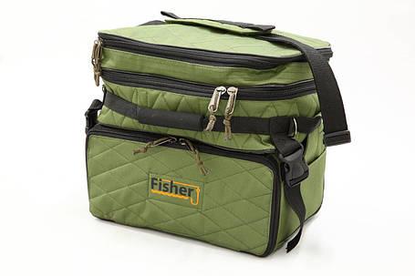 Сумка Fisher рыбацкая 3х секционная для хранения мелких аксессуаров,, фото 2