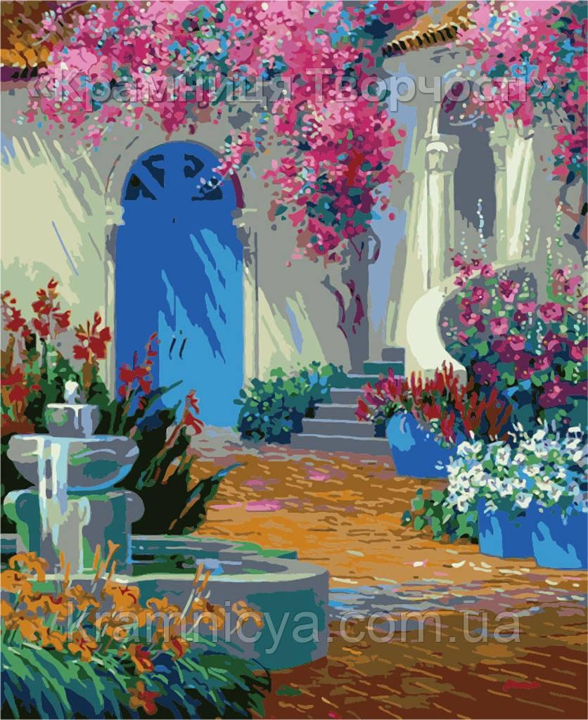 "Картина по номерам ""Райский дворик"", худ. Mikki Senkarik,  MG1092, 40х50см."
