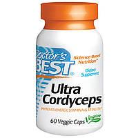 Кордицепс улучшенного действия, Doctor's Best, Ultra Cordyceps, 60 капсул