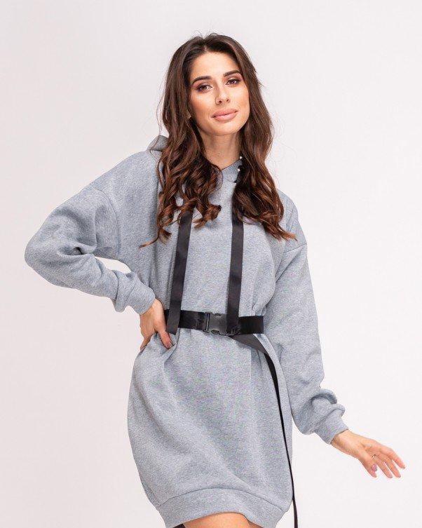 Платья  11156  S серый XL