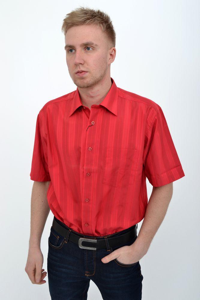 Рубашка 50P01039-2 цвет Красный