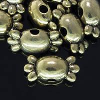 Бусины Металлические, Конфета, Цвет: Античное Золото, Размер: 5х12х5мм, Отв-тие 1мм, (УТ0002094)