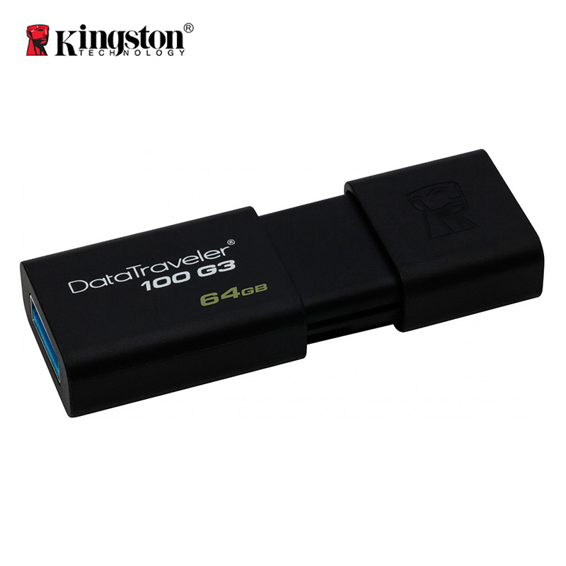 Флеш-память USB Kingston DataTraveler 100 DT100G3/64GB (64GB, USB 3.1)