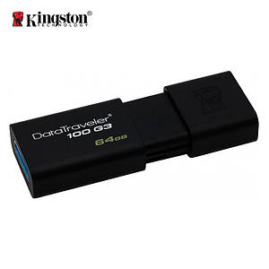 Флеш-память USB Kingston DataTraveler 100 DT100G3/64GB (64GB, USB 3.1)