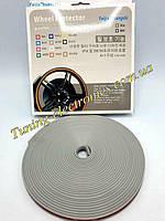 Декоративная СЕРЫЙ защитная молдинг лента для колес,дисков,титанов (защита от сколов,царапин) WHEEL PRO