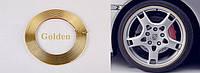 Декоративная ЗОЛОТОЙ защитная молдинг лента для колес,дисков,титанов (защита от сколов,царапин) WHEEL PRO