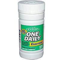 Поливитамины и минералы Одна Таблетка в День, 21st Century Health Care, One Daily, Essential, 100 таблеток