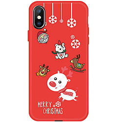 "Чехол для Apple iPhone XS (5.8"") TPU, Merry Christmas"
