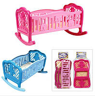 Кроватка для кукол Технок арт 4531  розовая