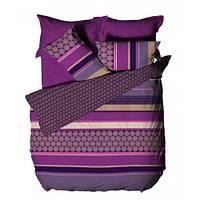 Комплект постельного белья Le vele ENNA - PURPLE простыня на резинке
