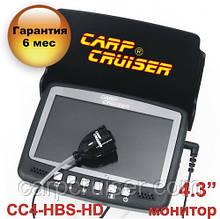 """Підводна камера відео Carp Cruiser СС4-HBS HD для зимової Риболовлі 4.3"""" монітор HD 1000 тб ліній кабель 15м"""