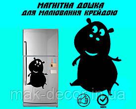 Магнитная доска на холодильник  Бегемот Глория L (20х30см)