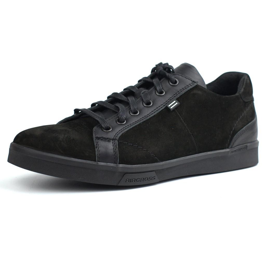 Кроссовки нубук черные кеды мужская Обувь больших размеров 46-50 Rosso Avangard Puran Aircross Black NUB BS