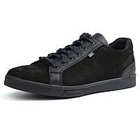 Кроссовки нубук черные кеды мужская Обувь больших размеров 46-50 Rosso Avangard Puran Aircross Black NUB BS, фото 1