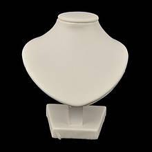 Бюст Искусственная Кожа, Белый, Размер: Высота 11 см, Ширина 10 см, Толщина 6.5 см, (УТ000006384)