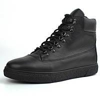 Черевики зимові чорні шкіряні на хутрі чоловіче взуття великих розмірів Rosso Avangard Taiga North Black Lion BS, фото 1