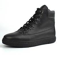 Ботинки зимние черные кожаные на меху мужская обувь больших размеров Rosso Avangard Taiga North Lion Black BS