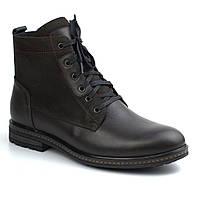 Ботинки зимние кожа нубук коричневые на меху мужская обувь больших размеров Rosso Avangard Whisper 2 Brown BS