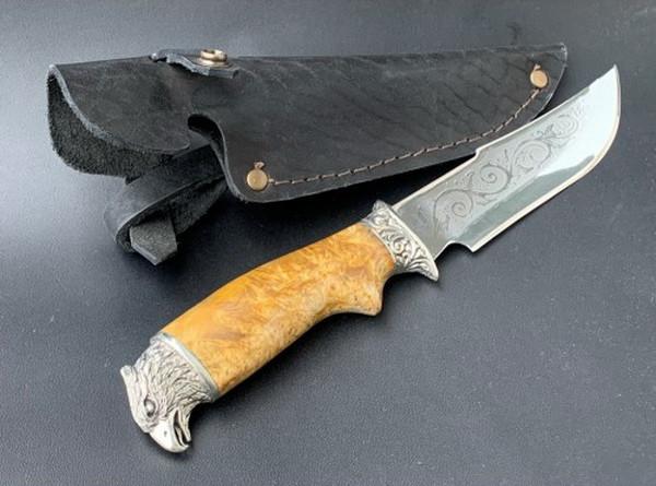 """Нож охотничий """"Орел"""" ручная работа, (сталь 40Х13, ножны кожа)"""