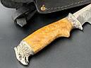 """Нож охотничий """"Орел"""" ручная работа, (сталь 40Х13, ножны кожа), фото 2"""