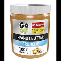 Арахисовая паста Go On Nutrition Peanut butter crunchy 500 g (Стекло)