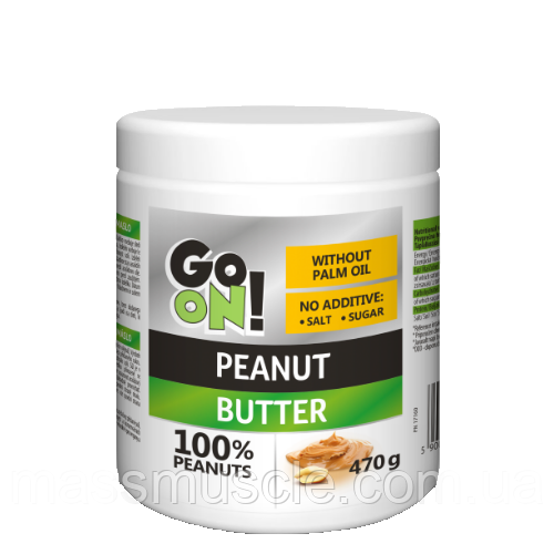 Арахісова паста Go On Nutrition Peanut butter smooth 100% 470 g