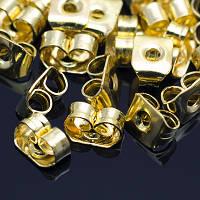 Заглушки Металлические, Цвет: Золото, Размер: 5х3.5мм, Отверстие 0.8~1мм (УТ0005905)