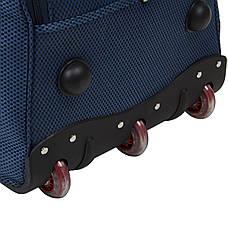 Сумка дорожная на колёсах FILIPPINI 67х37х40 синяя формованная  ксТ0047синб, фото 3