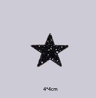 Термоаппликация из страз Звезда, наклейка на ткань