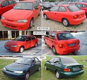 Кузовные запчасти для Hyundai Accent 1995-97