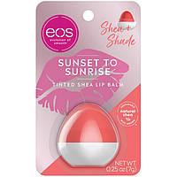 """Бальзам с маслом ши (каритэ) для губ с оттенком """"Персиковый"""" от Eos sunset to sunrise tinted lip balm, фото 1"""