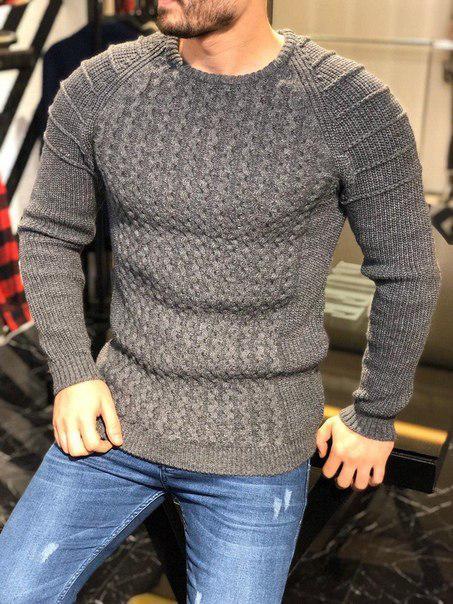 Мужской вязаный свитер на зиму, Турция