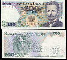 Польша / Poland 200 Zlotych 1986 Pick 144с UNC
