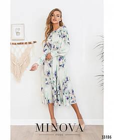 Небесно-прекрасное платье из новой коллекции женских платьев от Minova размеры: 42,44,46,48