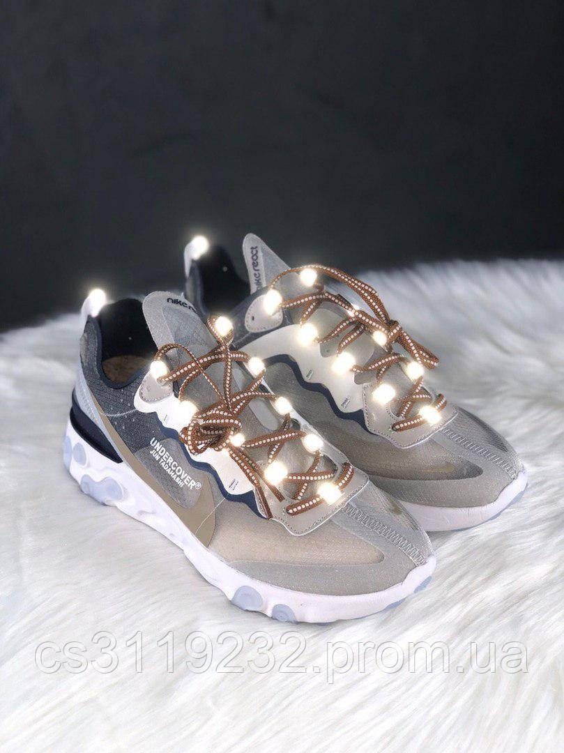 Женские кроссовки Nike React  Element 87 White Cream Blue (белый/крем/голубой)