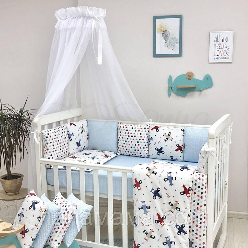 Комплект в кроватку Baby Design Аэроплан